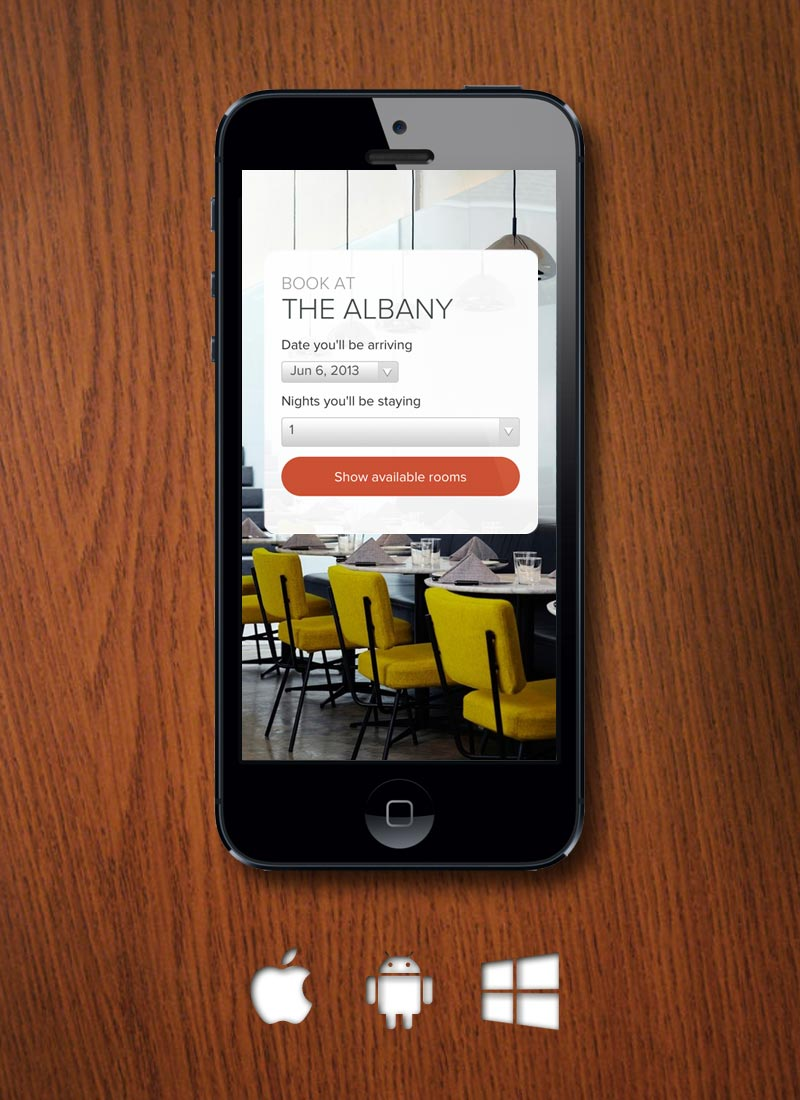 New feature mobile web app for booking a hotel room inn for Room design app uk